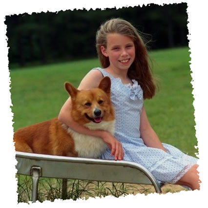 Girl-with-dog-at-slide