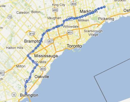 Hwy 407 Map Hwy 407 Map
